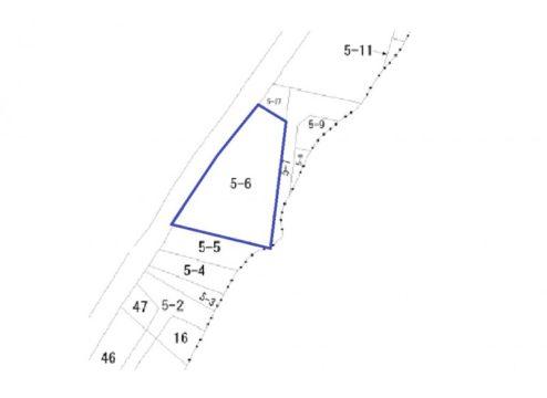 富山市草島倉庫付き土地図面