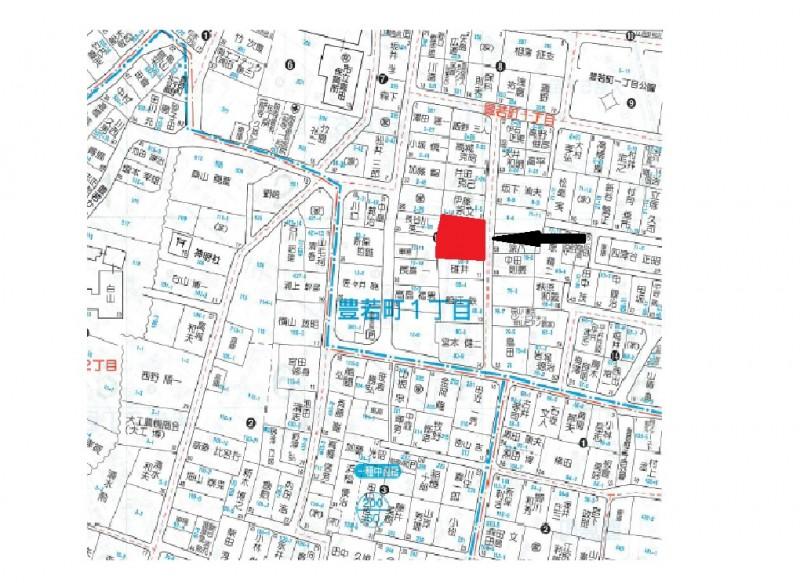 富山市豊若町1丁目の土地写真
