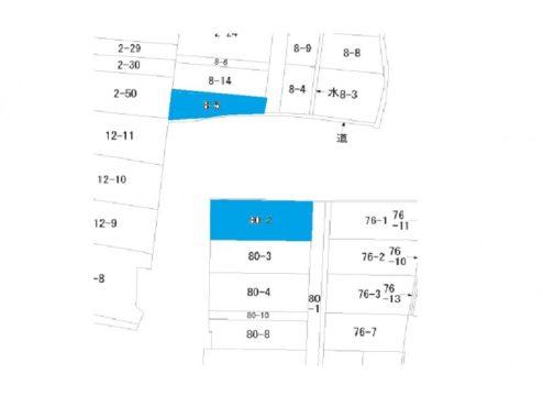 富山市豊若町1丁目の土地図面