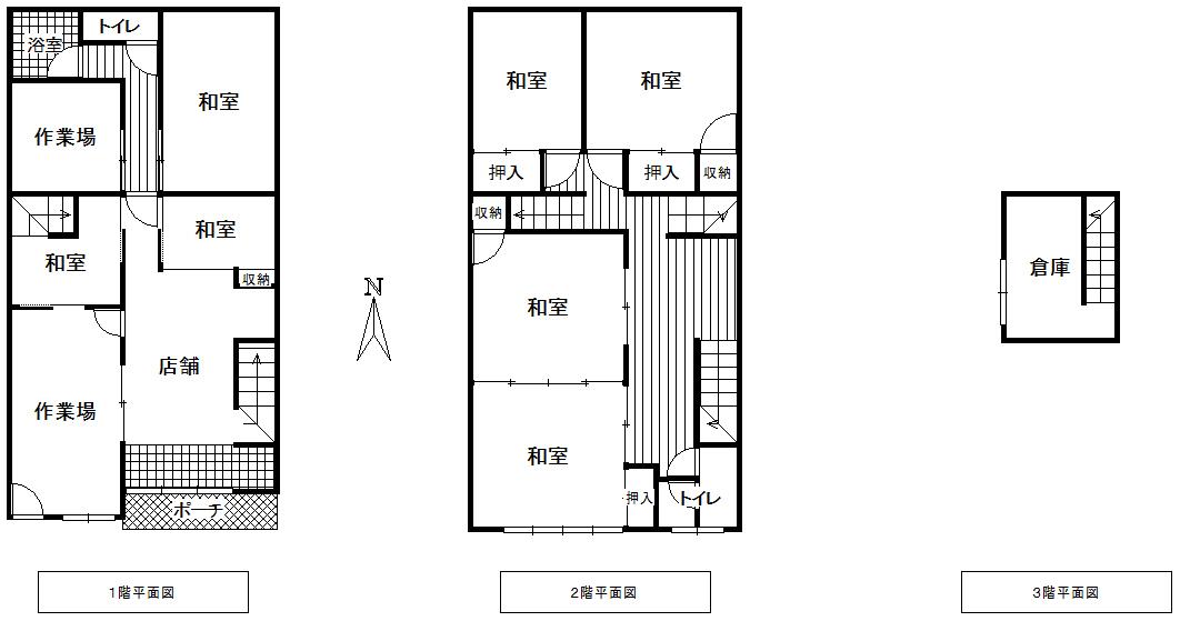 魚津市新宿の店舗付住宅図面