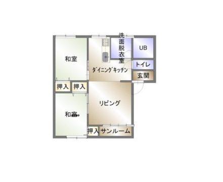 プチ・フラワー 201号室図面