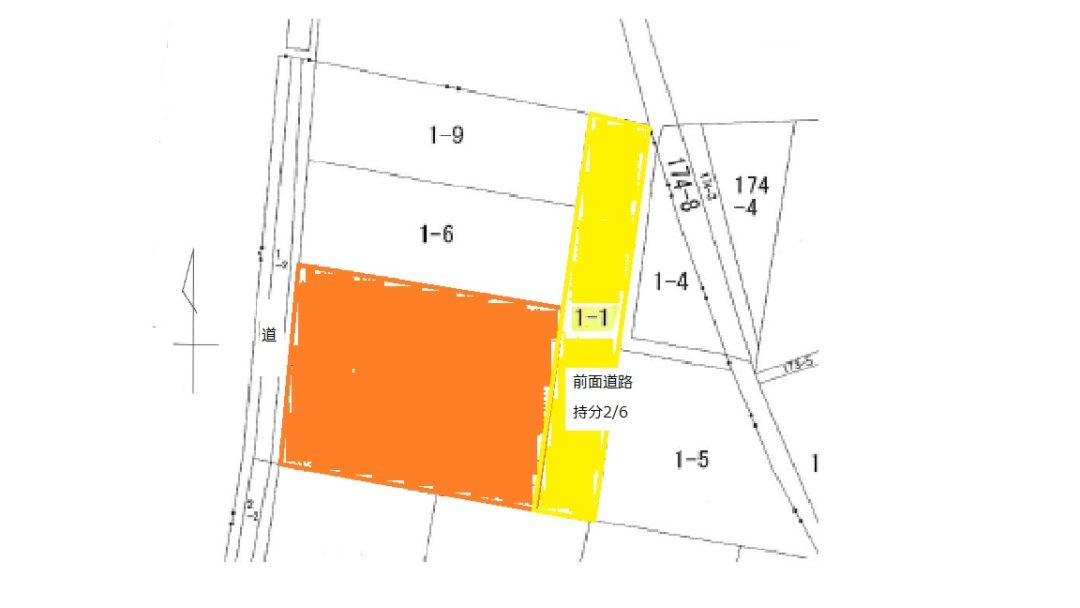 富山市豊田町1丁目の土地図面