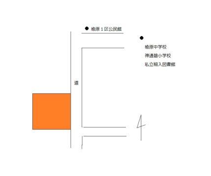 富山市楡原の土地図面