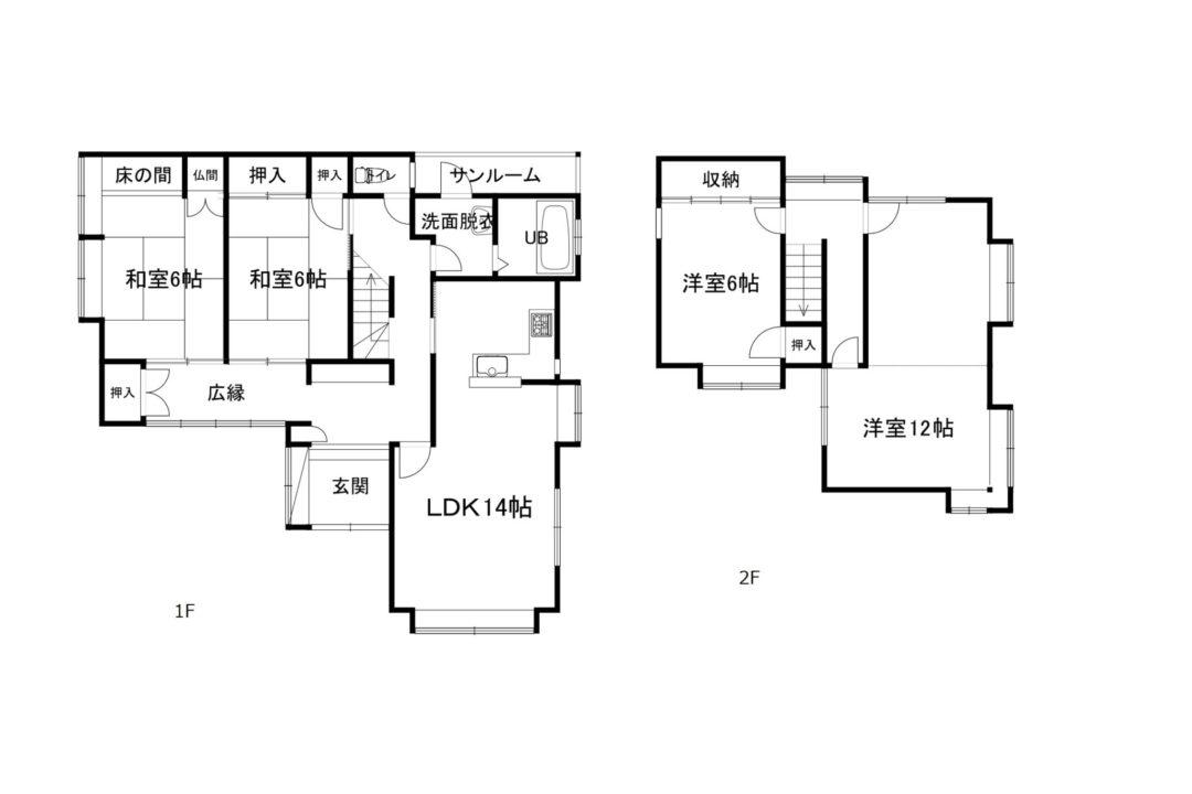 富山市豊田本町3丁目の中古住宅図面