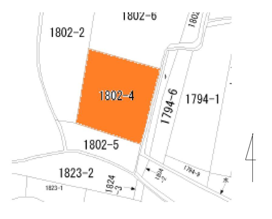 滑川市上小泉の土地図面