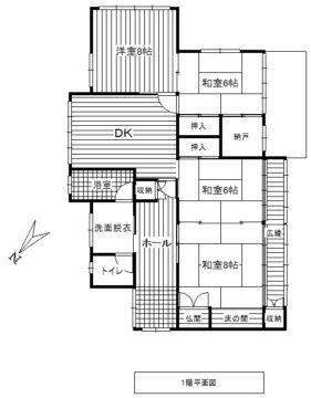 富山市石坂新 中古住宅図面