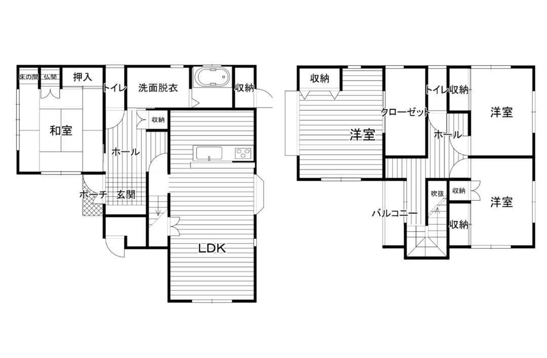 富山市日俣中古住宅図面