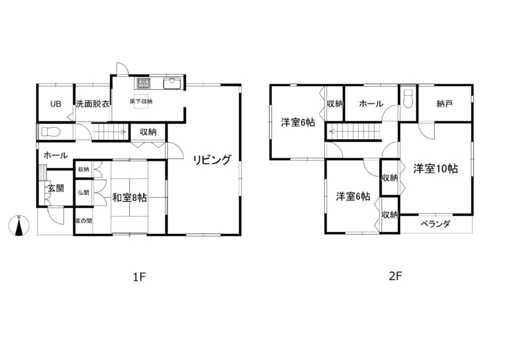 富山市長附中古住宅図面