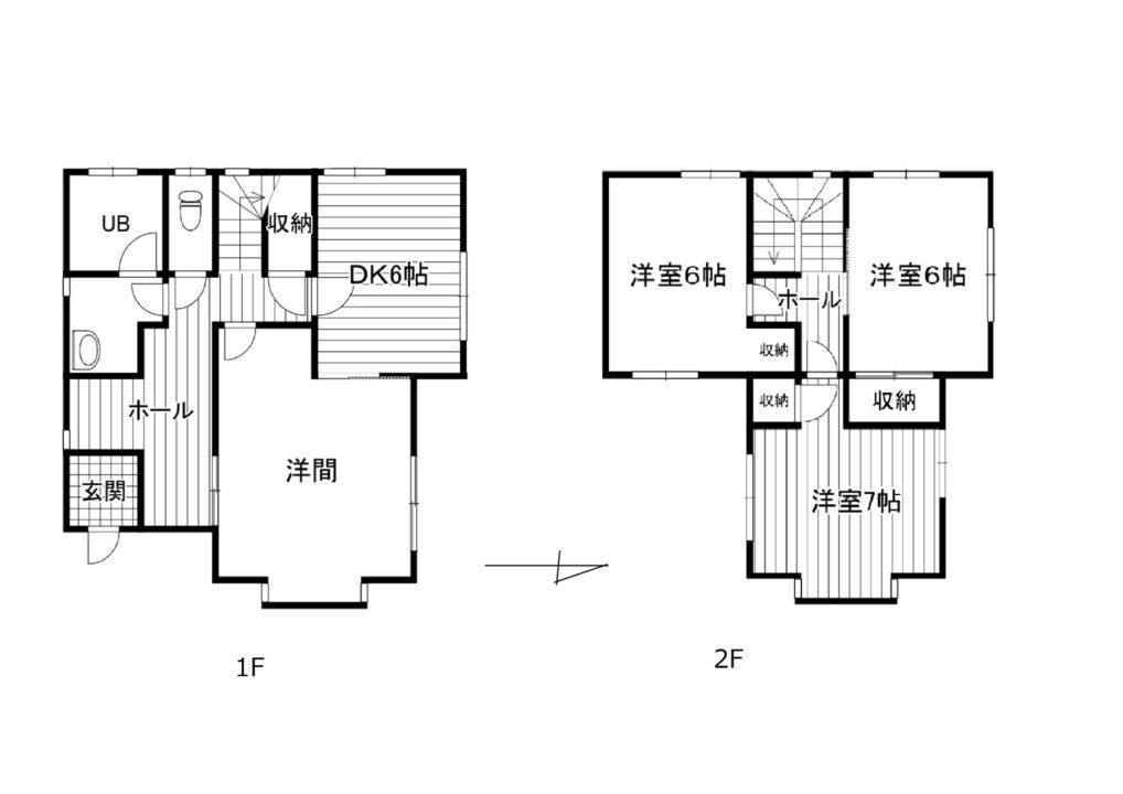 富山市婦中町麦島中古住宅図面