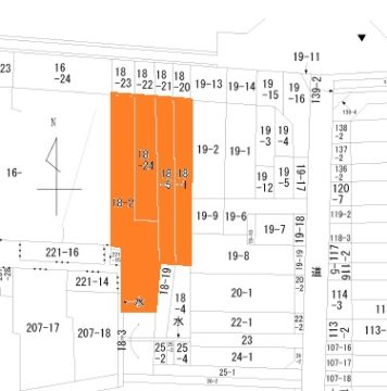 魚津市新宿の土地図面
