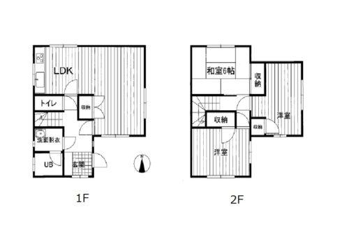 黒部市中新中古住宅図面
