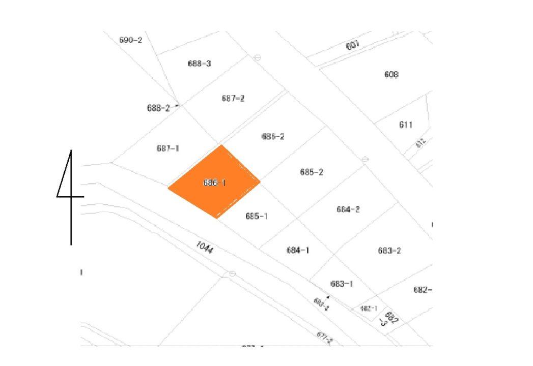 富山市月岡町6丁目土地図面
