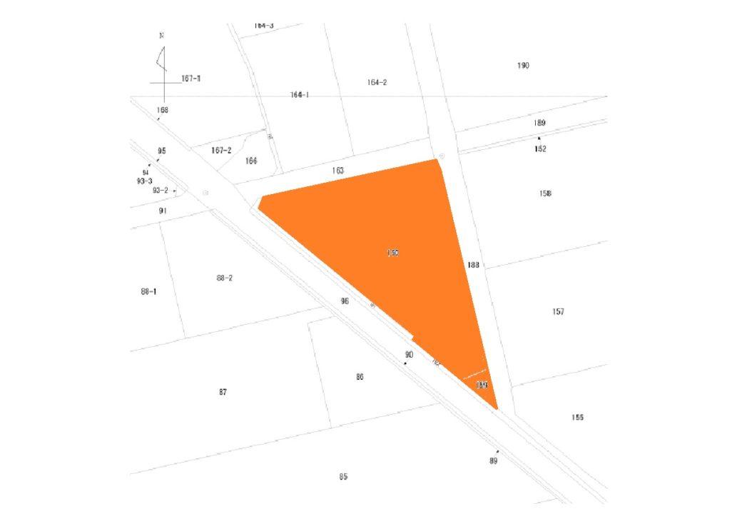 下新川郡入善町田中(吉原1区)の土地図面