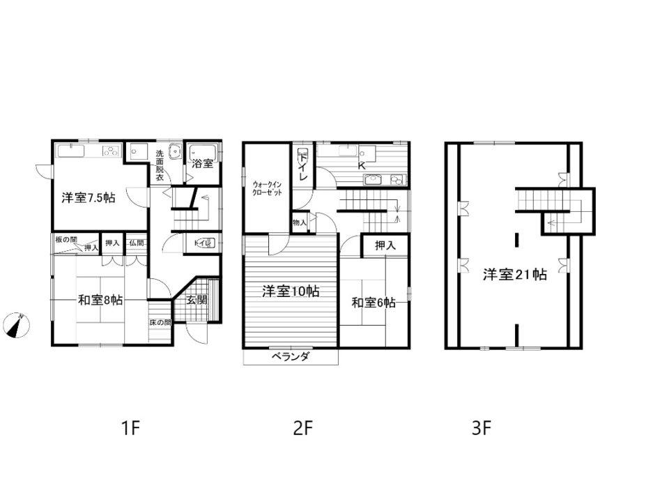 富山市窪新町中古住宅図面