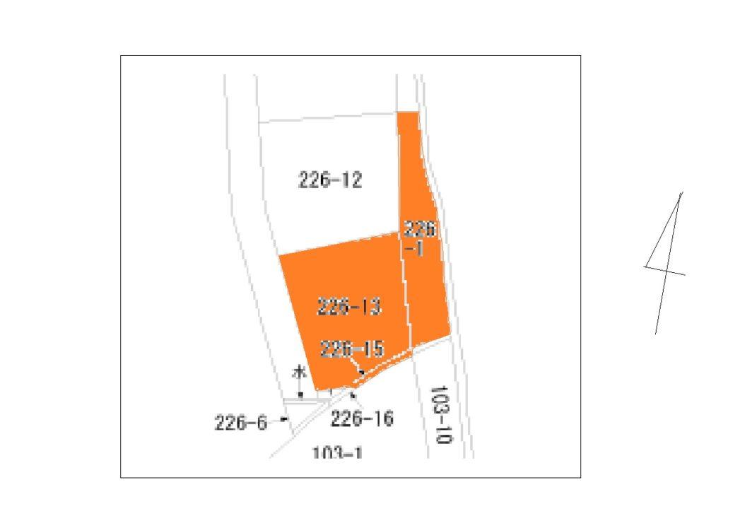 富山市本郷町の土地図面