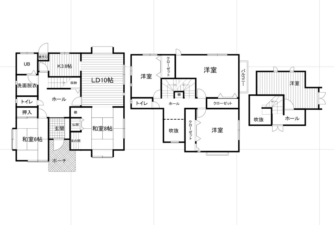 富山市小原屋中古住宅図面