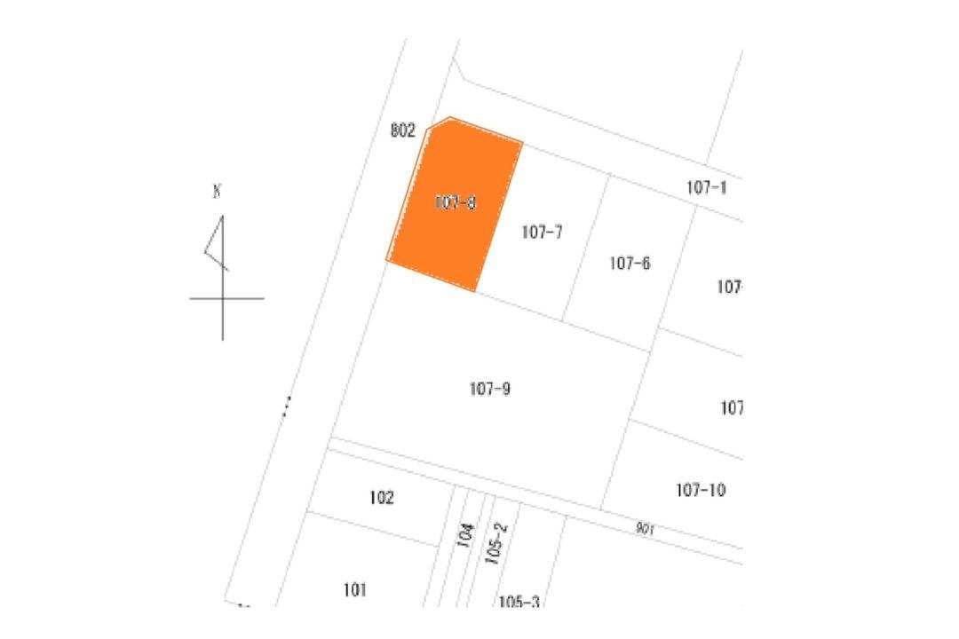 魚津市緑町の土地図面