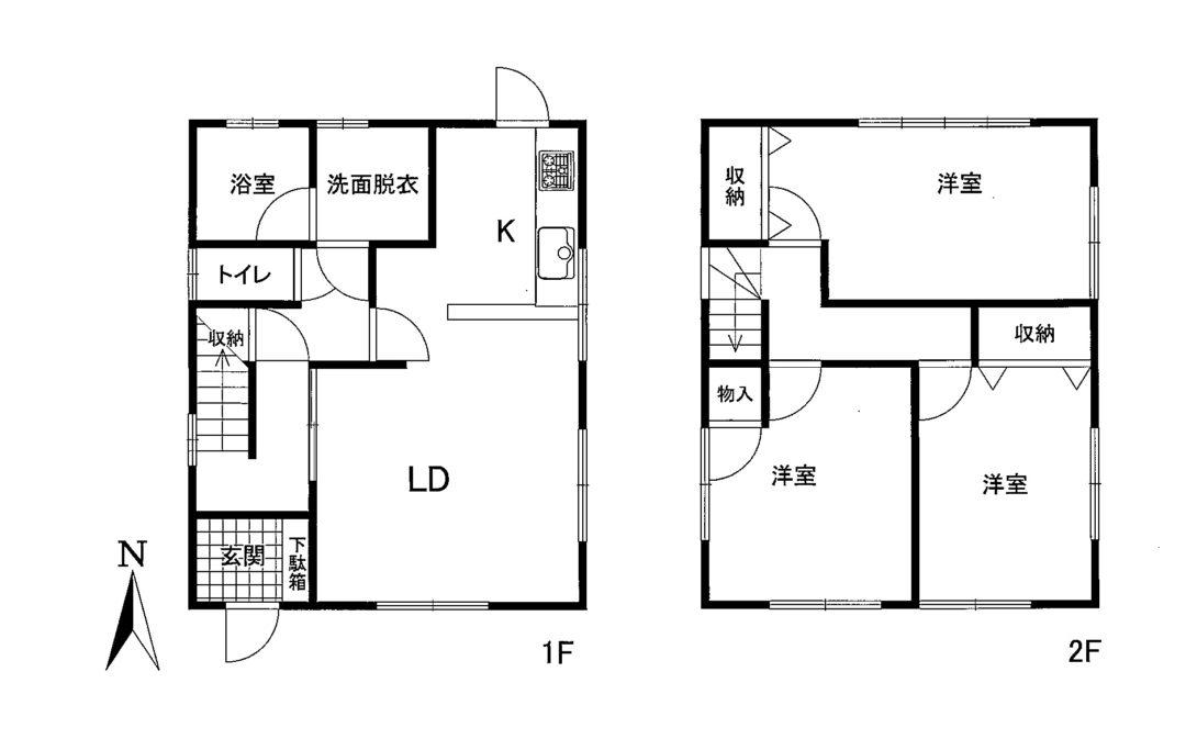 富山市一本木中古住宅図面